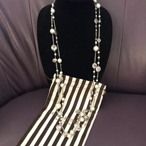 Henri Bendel Pearls and Crystals Necklace